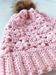 Willow Slouchy Crochet Hat Crochet Beanie, Knitted Hats, Crochet Hats, Cute Beanies, Colorful Flowers, Free Pattern, Winter Hats, Crochet Patterns, Stitch