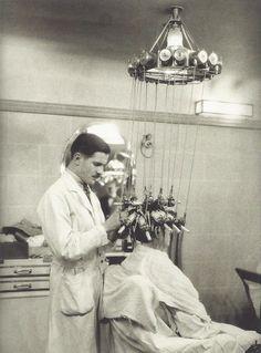 salon de coiffure, machine à friser électrique, 1928