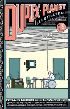 Classic Chris Ware cover to David Greenberger's Duplex Planet Illustrated #15, one of alternative comics' most under-appreciated series, published by Fantagraphics, April 1996.