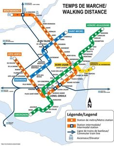 Montreal, the largest city in the province of Quebec in Canada is located on the island of the same name between the St. Lawrence River and the Rivière des Prairies. Metro Montreal, Quebec Montreal, Montreal Travel, Montreal Ville, Quebec City, Metro Subway, Subway Map, Ontario, Train Map