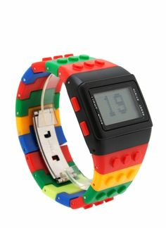 This analog watch kind of reminds us of Legos and as such, it's awesome.