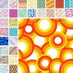 Seamless retro pattern - Stock Illustration: 2716383