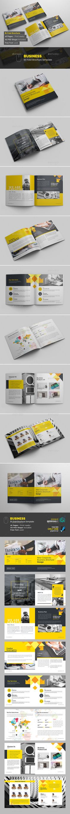 BiFold Brochure — Photoshop PSD #blue #8x8 • Download ➝ https://graphicriver.net/item/bifold-brochure/19118151?ref=pxcr
