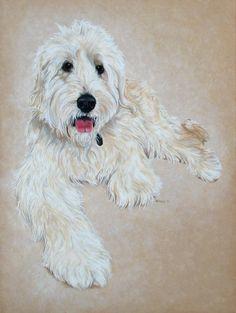Custom Pet Portrait Pet Portrait Pets Dogs by ArtbyWeeze