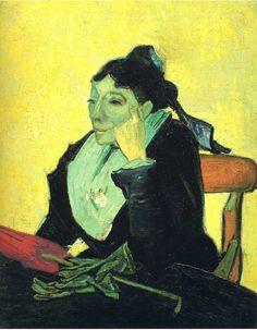 Portrait of Madame Ginoux (L'Arlesienne), 1888  Vincent van Gogh