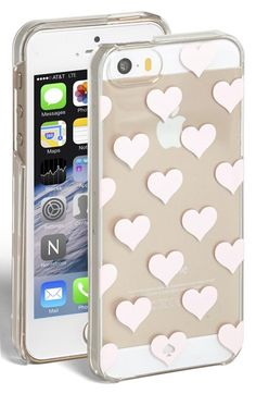 Free shipping and returns on kate spade new york 'clear hearts' iPhone 5 & 5s case at Nordstrom.com. Pastel hearts add sweet charm to a clear ridge case designed to showcase your iPhone's style.