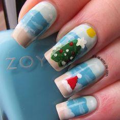 christmas beach by graciezac #nail #nails #nailart