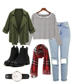 """""""Untitled #534"""" by shopaholic02 on Polyvore featuring Topshop and Daniel Wellington"""