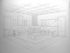 2 pt perspective city on pinterest perspective drawing - Two point perspective living room ...