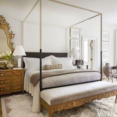Stay in bed all day. Bedroom by Tara Shaw