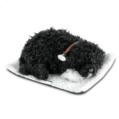 Perfect Petzzz Portuguese Water Dog The Perfect Petzzz Portuguese Water Dog offers a real pet ownership experience without the hassles and expense. Say goodbye to feedings and vet bills, and say hello to lots of love and cuddles. This pet offers a realistic experience for you and your family because it features quiet and realistic breathing, and it's fur is 100 percent synthetic fur so there is no need to worry about allergies. Each bundle includes a new soft pet, a pet carrier, a brush…
