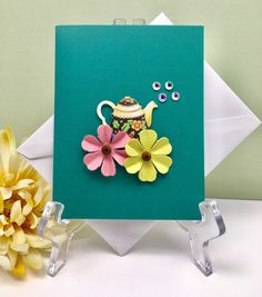 A personal favorite from my Etsy shop https://www.etsy.com/listing/511848601/teapot-card-just-because-card-thinking