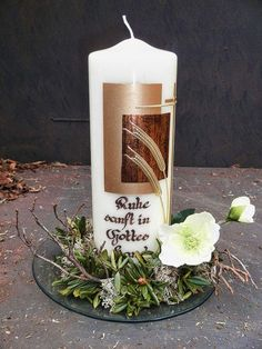 Create a result for mourning candles - Easter Day Baptism Candle, Candle Art, Easter Cross, Pillar Candles, Hand Carved, Carving, Homemade, Create, Natural Candles