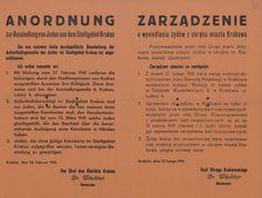 Wysiedlenie Żydów- obwieszczenie o wysiedleniu Żydów z obrębu miasta Krakowa wydane przez Szefa Okręgu Krakowskiego - Otto Wachtera. Kraków 25 listopada 1941 r.