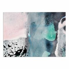 KESS InHouse Iris Lehnhardt 'Abstract Color' Pastel Painting Dog Place Mat, 13' x 18' * Trust me, this is great! Click the image. : Dog food container