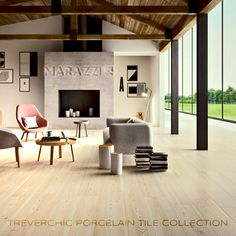 #Marazzi Treverchic #WoodLookTile makes a statement in any room.  Wide plank hardwood looks in a durable #PorcelainTile format.  Looking to #remodel?  Check out all of the Marazzi #Tile Collections for #DesignInsiration