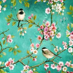 Flowers, Animals - birds, Summers, lunchnapkins, birds, blossomsDecoupage napkins, paper napkins, decoupage paper, napkins for decoupage, decoupage designs