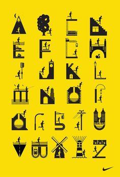 Nike running club alphabet.