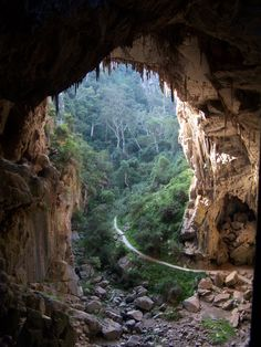 Hiking to Jenolan Caves, Australia. The Jenolan Caves are limestone caves located within the Jenolan Karst Conservation Reserve in the Central Tablelands region, west of the Blue Mountains, in New South Wales, in eastern Australia.