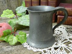 Antique Pewter Tankard Crown V R 451 by on Etsy Pewter Tankard, Half Pint, Antique Pewter, Crown, Kitchen Items, Antiques, Etsy, Antiquities, Kitchen Utensils
