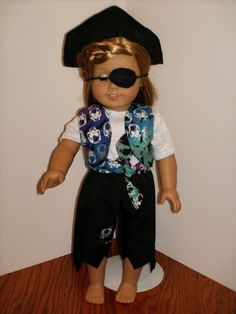 18 American Girl Doll Pirate Costume Dress by DollClothesbyAvola, $18.00