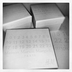 Maison Martin Margiela for H beautiful white box packaging.