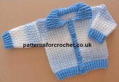 pfc01-Ribbed Cardi baby crochet pattern