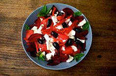 watermelon and beetroot salad