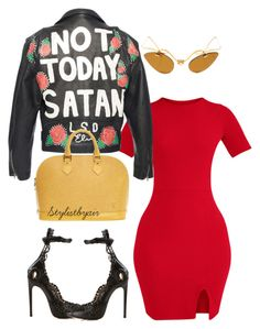 """""""Untitled #6920"""" by stylistbyair ❤ liked on Polyvore featuring Alaïa and Louis Vuitton"""