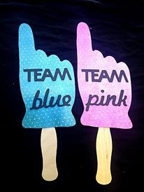 Team Pink Team Blue Photo Props Gender Reveal by IttyBittyWedding Gender Reveal Photos, Baby Gender Reveal Party, Gender Party, Gender Announcements, Gender Reveal Decorations, Baby Shower Photos, Festa Party, Rainbow Baby, Baby Time