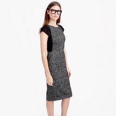 J.Crew - Tweed sheath dress with lace