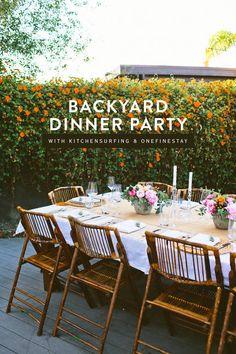 backyard dinner party | designlovefest