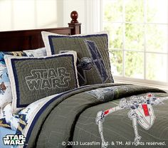 Star Wars™ x-wing & TIE Fighter™ Quilted Bedding | Pottery Barn Kids