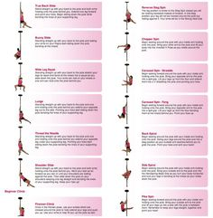 Pole Dancing Exercise : Beginner, Intermediate and advanced Moves (Spins, Poses, Floor-work, Slides and Climb). ........ Pole dancing is a great form of exercise and can be used as both an aerobic and anaerobic workout.  Self-taught pole dancing techniques here....... :)