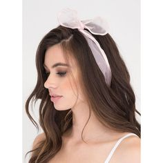 Hair Today Sheer Mesh Wire Headband (€4,50) ❤ liked on Polyvore featuring accessories, hair accessories, pink, wire hair accessories, pink headbands, wide headbands, hair band accessories and head wrap headband
