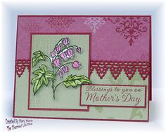Mothers Day card featuring image and sentiment from ODBD stamps