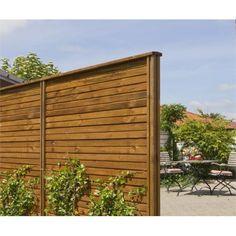 Plus Plank byg-selv plankeværk 180x180cm brunimprægneret 17754-2