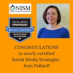 Congratulations to Dr. Jennifer Pollard, SMS on her recent achievement!