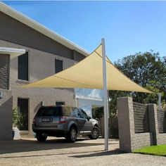 Home Car Parking Shade Sail,Shengzhou Sanjian Netting Co. Patio Shade, Pergola Shade, Beach Bungalow Exterior, Carport Shade, Garage Canopies, Canopy Outdoor, Outdoor Decor, Modern Carport, Car Shed