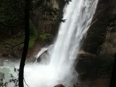 Vernal Falls in the summer