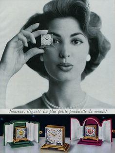 Home Watch Company Bienne Switzerland Vintage 1955 Swiss Ad