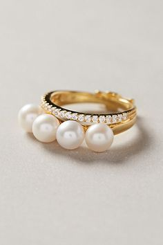 Anthropologie PEARL LAYER RING #anthrofave