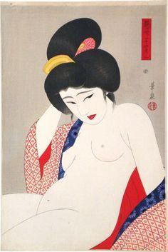 Ohira Kasen, Two, After a Bath 1931
