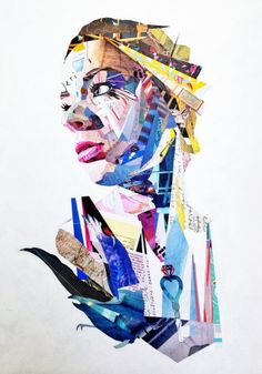 Patrick Bremer Online - Portrait Artist Brighton UK, begin with a colored picture and cover sections with colored print