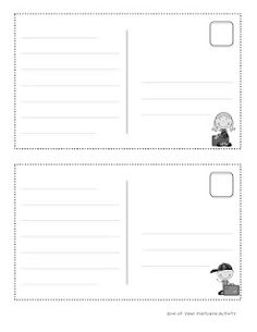 Postcard Writing Template Ks1