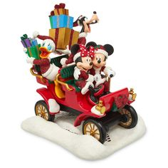 Disney Parks Santa Mickey Mouse and Friends in Car Figure