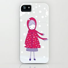 Girl in the snow iPhone & iPod Case by radis - $35.00