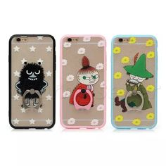 Lovely Cartoon Ring Stand Holder Silk TPU Bumper Case Cover For iphone 6 6S/Plus #UnbrandedGeneric