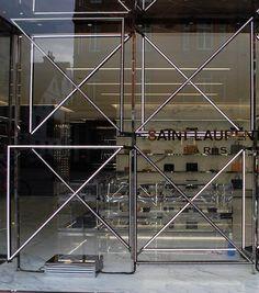 geometric lights at Saint Laurent, Paris,  pinned by Ton van der Veer
