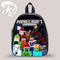 3df2d76c1805 Minecraft Christmass Kid School Bag Backpacks for Child Minecraft Bag